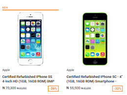 Get A Certified Refurbished Apple iPhones For N55 500 on Jumia