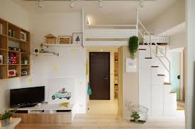 100 Apartments In Taiwan Redesigned Tiny Apartment With Loft Features A Brighter Open