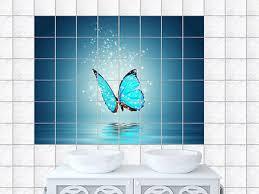 fliesenaufkleber fliesen bad küche badezimmer schmetterling