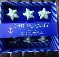 Glass Starfish Cabinet Knobs by Cynthia Rowley Ceramic Sea Shell Drawer Cabinet Pulls Round Knobs