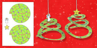 Simple Paper Tree Ornament Craft Activity