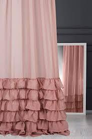 eurofirany vorhang glatt volant puder rosa transparent kräuselband 140x270 cm gardinen durchsichtig edel hochwertig schlafzimmer