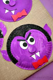 Paper Plate Dracula Halloween Kids Craft
