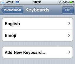 Enable the Emoji Keyboard in iPhone OS 4 0 [How To]