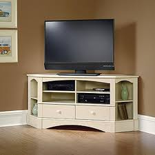 sauder harbor view antiqued white entertainment center 402905