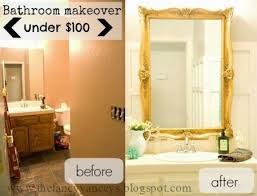 Small Bathroom Remodels Before And After by Remodelaholic A 170 Bathroom Makeover With Painted Tile