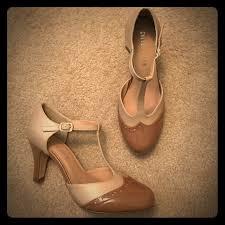 Cute Vintage Look T Strap Heels