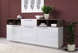 sideboard kommode anrichte wohnzimmer 204cm weiß hochglanz abbeyhill 15479