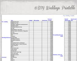 Wedding Budget Spreadsheet Planner Excel