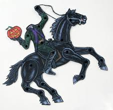 The Haunted Pumpkin Of Sleepy Hollow Soundtrack by Headless Horseman Articulated Paper Doll The Legend Of