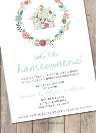 Housewarming Party Invitation Printable Our First Home New Invitations 198