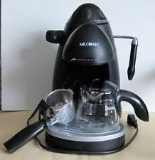 MR COFFEE STEAM ESPRESSO CAPPUCCINO MAKER MODEL ECM20 BLACK 4 CUPS VG CONDITION