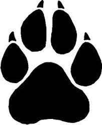 Paw clipart lobo Pencil and in color paw clipart lobo