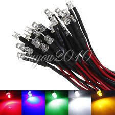 20 pcs white 3mm led pre wired lights 12v 20cm bulbs l ebay