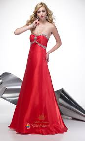 long strapless red dress dress images