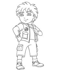8 Years Old Latino Boy In Go Diego Coloring Page
