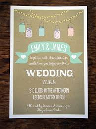 Email Address Vintage Rustic Jam Jars Wedding Invitation