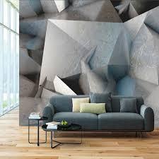 benutzerdefinierte grau geometrische industriellen stil wand papier 3d restaurant bar cafe wohnzimmer decor wandbild tapete papel de parede 3d
