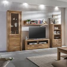 details zu wohnwand anbauwand wohnzimmer set tabea in wildeiche teil massiv 4 teilig
