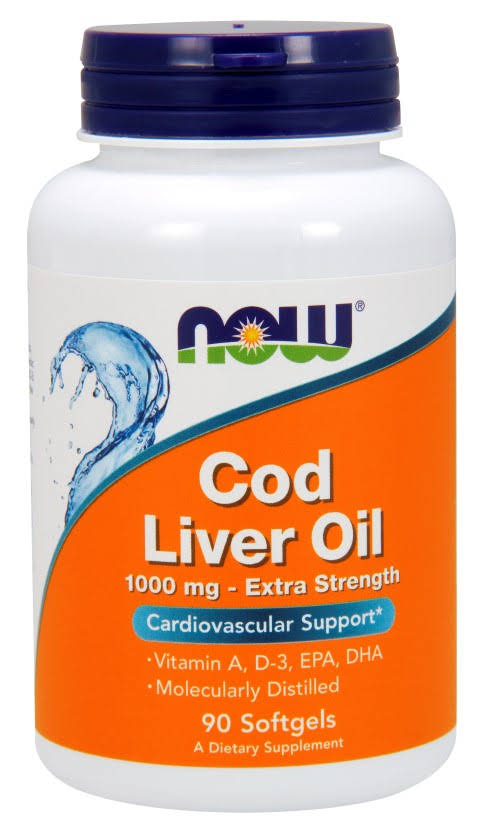 Now Foods Cod Liver Oil - 90 Softgels, 1000mg