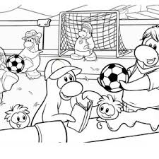 Playing Soccer Game After School Coloring Page