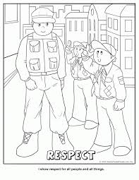 Cub Scout Respect Coloring Page 188316 Pages