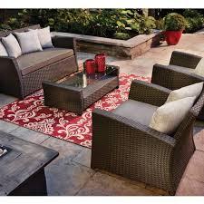 Lowes Canada Patio Furniture by Garden Treasures Burkstead 4 Piece Patio Conversation Set Lowe U0027s