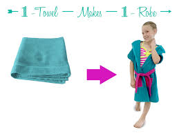 But You Can Make One Complete Robe With Just 1 Towel This Style Fits Children From 4 8 And A Smaller Variation Fit Down To Baby