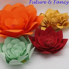 4PCS Set Cardstock Customerized Giant Paper Flowers For Wedding Backdrops Windows Display Kids Room Decorations