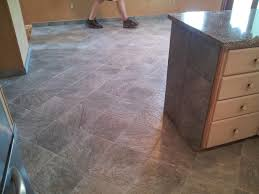 Kitchen And Dining Room Tiled In Slate Looking Porcelain Tile