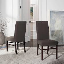 Safavieh Charcoal Brown Dining Chair (Set Of 2) HUD8205J-SET2 - The ... Safavieh Lulu Upholstered Ding Chair In Light Brown And Gold Set Terra Midcentury Modern Fabric Of 2 Buy Fox6228eset2 Holloway Oval Side Black Pu Set Safavieh Mcer Collection Carol Taupe Linen Ring Fox6228g Youtube Navy Cushioned Chairs Safaviehcom Abby Sky Blue Reviews Goedekerscom Mcr4604b Lizzie Ding Chair Set Of 80100 A7005aset2 Fniture By White Home Design Ideas Also Interior Decor Market Becall Natural Cream Shop Parsons Becca Zebra Grey On Sale