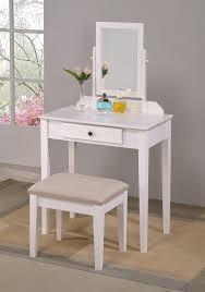 Bedroom Vanity Dresser Set by Amazon Com Crown Mark Iris Vanity Table Stool White Finish With