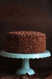 Mini Rosettes on a Chocolate Cake with Chocolate Coffee Buttercream