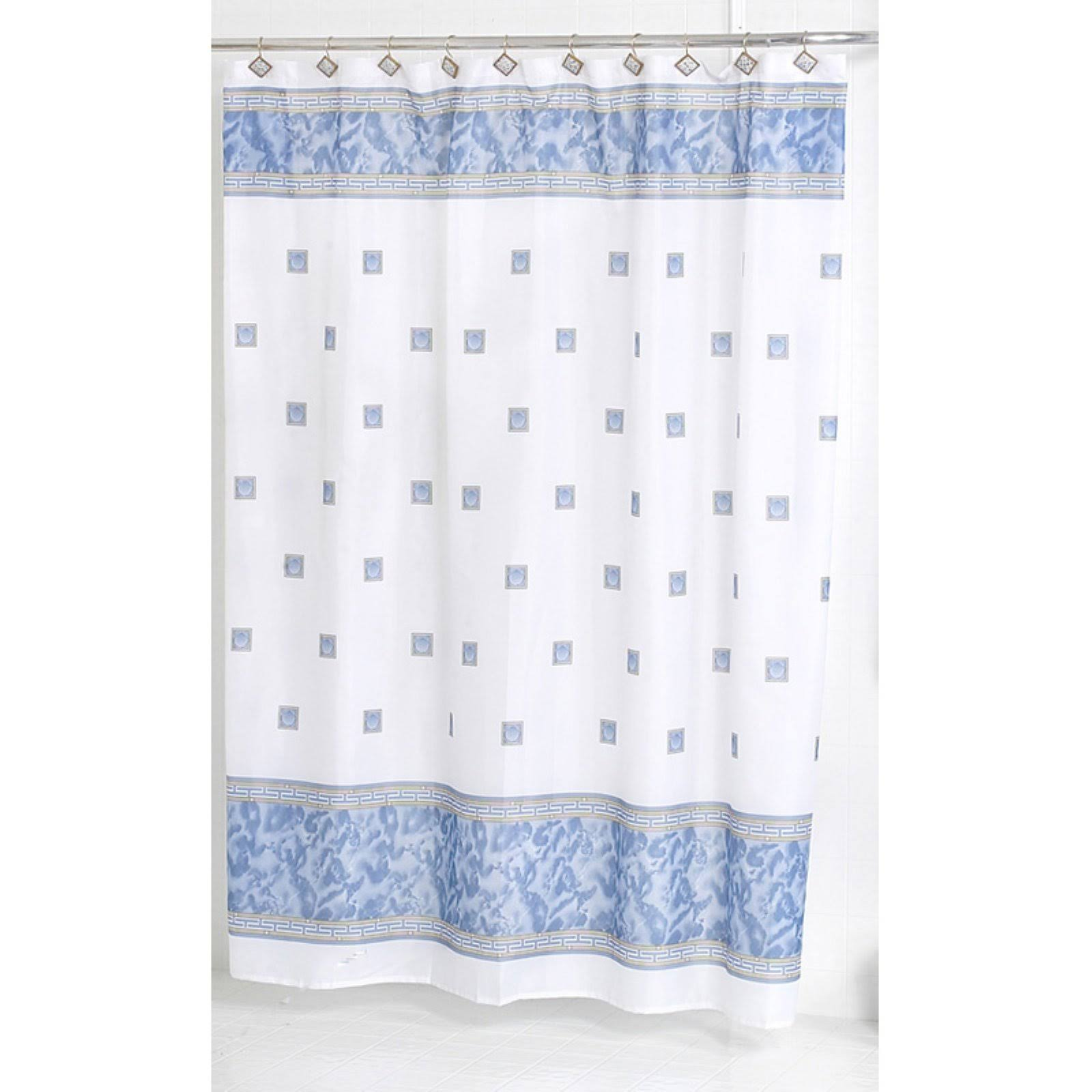 Carnation Home Windsor Fabric Shower Curtain in Slate