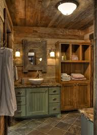Rustic Style Bathrooms Bathroom With Ceiling Light