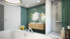 eine grüne oase im badezimmer retro waschbecken e