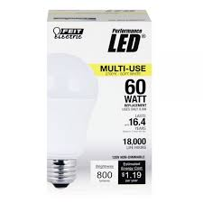 feit electric led bulb a19 60w equivalent 2700k warm white