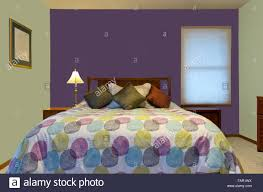 100 Bedroom Green Walls Bedroom Interior With Purple And Green Walls Lamp Colorful