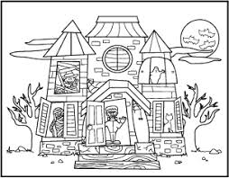 Halloween Haunted House Coloring Pages Festival Collections Printable