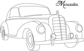 Mercedes Classic Cars Coloring Pages For Kids K5