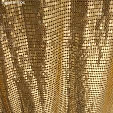 tissus pour rideaux pas cher 45 150 cm pas cher or argent nickel métallique en métal mesh