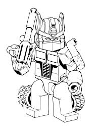 Dibujos Para Colorear De Lego Marvel Party Transformers Colori