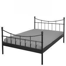 bett doppelbett ramona 180x200 schwarz bett bettgestell metall schlafzimmer