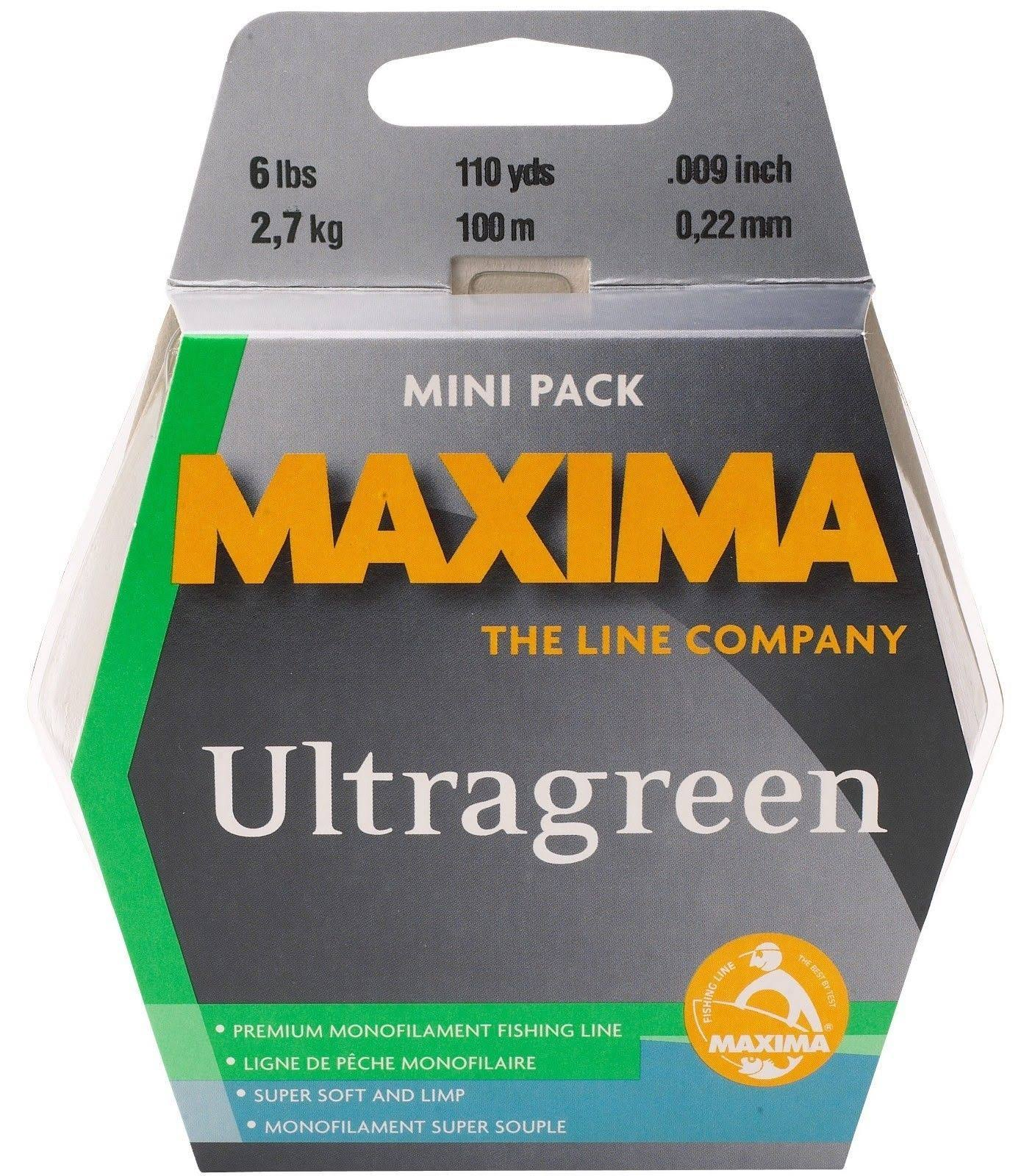 Maxima Fishing Line Mini Pack Ultragreen 6-Pound 110-Yard