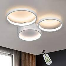 zmh deckenle led wohnzimmer deckenleuchte dimmbar weiße schlafzimmerle modern ring design 3 flammig 38w bürole aus aluminium kinderzimmer