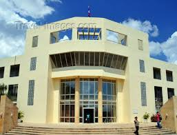 Belize73 Belmopan Cayo Belize Entrance Of Sir Edney Cain Building