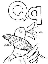 Quill And Quack Alphabet Coloring Pages