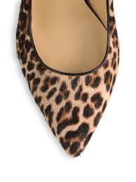 michael kors avra leopard print calf hair pumps lyst