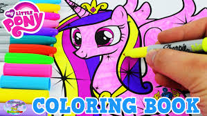 My Little Pony Coloring Book MLP Princess Cadance Colors Episode Surprise Egg And Toy Collector SETC