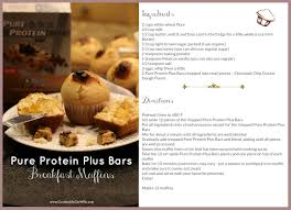 Pumpkin Muffin Dunkin Donuts Weight Watchers Points by Chocolate Chip Cookie Dough Muffins Using Pure Protein Plus Bars